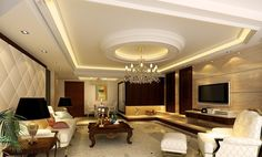marble wall with tv | White ceilings and marble TV wall for living room