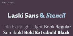 Laski Sans by Ramiro Espinoza – the highly anticipated companion of Laski Slab #laski #sans #typeface #humanist #font #stencil