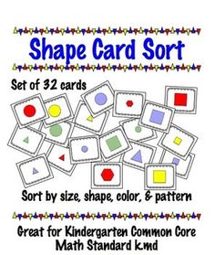 Sort by size, shape, pattern, or color