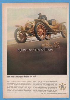 1965 Full Service Bank Auto Loan 1910 Mercer Speedster Antique Car print ad