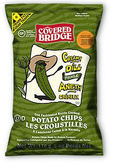 Creamy Dill Pickle Snack Recipes, Snacks, Covered Bridges, Tortilla Chips, Potato Chips, Hot Dogs, Pickles, My Photos, Potatoes