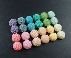 24 pcs 15mm Resin Flower Cabochon Cameo Covers Mixed Colors