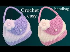 Instead of buying a bag, you can Crochet Bag With Knit Flower. We're excited you're here and checking out all the fun and we hope you'll join in. ideas for beginners projects Crochet Bag With Knit Flower - Learn to Crochet - Crochet Kingdom Crochet Flower Hat, Knitted Flowers, Love Crochet, Learn To Crochet, Crochet For Kids, Diy Crochet, Crochet Baby, Crochet Ideas, Crochet Amigurumi