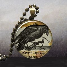 Hey, I found this really awesome Etsy listing at https://www.etsy.com/listing/67884899/raven-goth-pendant-raven-pendant
