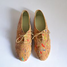 Confetti cork vegan pony oxford shoes Handmade to by goldenponies, $42.00