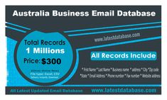 Australian email lists include business and consumer email marketing lists from Australia. All is updated and real email marketing lists also no fake email address. Our Australian mailing list is opt in and accurate data. Email Marketing Lists, Email Marketing Campaign, Sales And Marketing, Marketing Digital, Online Marketing, Direct Marketing, Marketing Software, Marketing Tools, Marketing Approach