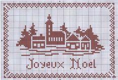 Un village monochrome pour noël - Les grilles de Maryse