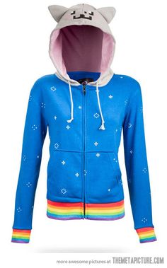 Nyan Cat hoodie, i would wear this ALL the time!