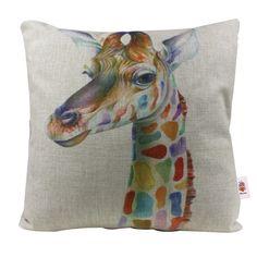 Nunubee Animal Cotton Pillowcase Soft Cotton Pillow Sofa Cover Square Cushion Bed Cushion Cover