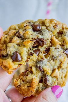Crispy on the edges but chewy and moist in the middle, and have about a hundred mix-ins that all combine to create the Texas of all cookies!!