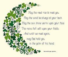 003 Irish Blessing (Leafy Borders) -Cross Stitch PDF Pattern