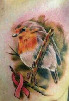 My favorite robin tattoo. I love the cross on the chest | Tattoo ...