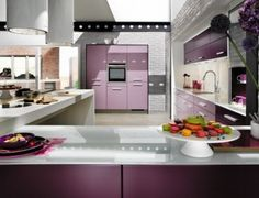 french moderne design/images | ... Design with Beautiful Violet Decoration Color | Architectural Design
