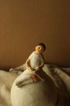 Charming doll from Japanese Nishio snow solo show. Artist unknown. via tisane infusion