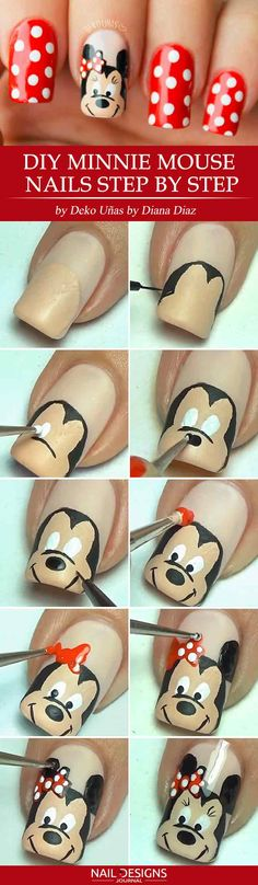 5 Lovely Mickey Mouse Nails Art Tutorials You'll Want to Try ❤ Hand Painted Mickey Mouse Art Mickey mouse nail art designs come in many types and colors. We will present to your attention mickey mouse nail art step by step so that even beginners will be able to succeed with. We hope you enjoy!https://naildesignsjournal.com/mickey-mouse-nails-tutorials/  #nails #nailart #naildesign  #mickeymouse #minniemouse