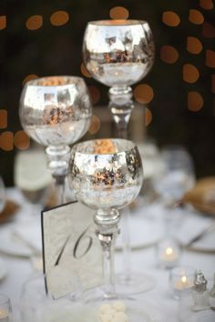 Love mercury glass! Sash and Bow has a great stock of mercury glass votives in stock!