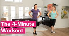 The 4-Minute Workout - Busy moms Larysa DiDio and Stephanie McMahon team up for this anytime, anywhere workout