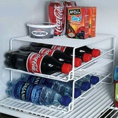 Refrigerator Organization: Use plastic coated wire racks for additional storage and to organize small items in the refrigerator.