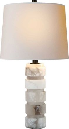 Visual Comfort Round Chunky Stacked Table Lamp By E F Chapman Height 29 1