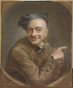 Autoportrait à l'index La Tour, Maurice Quentin de © RMN (Musée du Louvre) / Michel Urtado Département des Arts graphiques