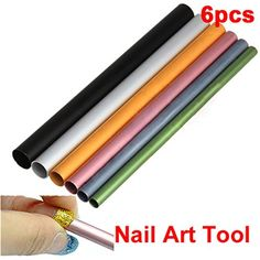 ACE 6 X Acrylic French UV Artificial Nail Art French Tip Tool C Curve Rod Stick * You can get more details by clicking on the image. (This is an affiliate link) #ToolsAccessories