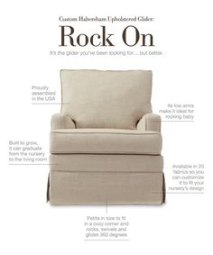 ROCK ON #nursery #glider