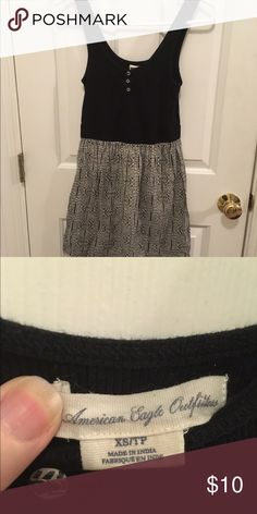 American Eagle tank dress American eagle tank dress, black tank with black and white print skirt, comfortable and perfect for summer. American Eagle Outfitters Dresses Mini