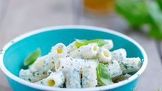 Nudeln mit Ricotta und schwarzem Sesam | http://eatsmarter.de/rezepte/nudeln-mit-ricotta-1