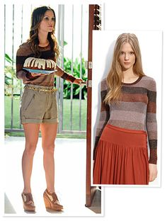 For one scene, Bilson's character Dr. Zoe Hart cozies up in Marc by Marc Jacobs' Camino metallic lurex sweater. Snag the same fall look for $228 at nordstrom.com.