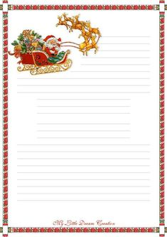Letters to Santa Claus. Stationary Printable, Printable Lined Paper, Christmas Templates, Christmas Printables, Christmas Paper Crafts, Christmas Cards, Xmas Quotes, Christmas Stationery, Santa Letter