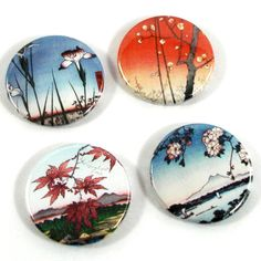 Japanese print - badges by Badge the Badger @Folksy