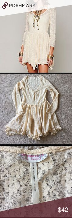 ❤️✌️☀️ FP Look Both Ways In Tea Sz M This dress is so pretty in person. EUC, no visible flaws. Completely sheer.                                                                                    💖 bundle & save 🌀 offers welcome 📦 fast shipping Free People Dresses Mini