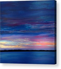 One Of A Kind Artwork Painting - Twilight by Ivy Stevens-Gupta Abstract Canvas, Oil Painting On Canvas, Canvas Art, Large Canvas, Blue Abstract, Blue Painting, Abstract Paintings, Canvas Prints, Abstract Landscape