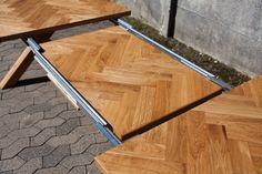 Håndbygget sildebensbord med udtræk - Smalltime Woodshop Kitchen Cabinet Molding, Kitchen Cabinets, Basque Country, Wood Projects, Diy And Crafts, Furniture Design, Woodworking, Dining, Kitchens