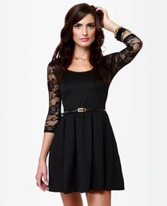 Sexy Black Dress - Lace Dress - Party Dress - $47.00