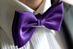 Also, the men will have to wear purple bow ties. And cummerbunds.