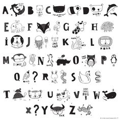 A Little Lovely Company Lichtbox Letters Sets - ABC Black