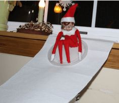 Elf sled riding