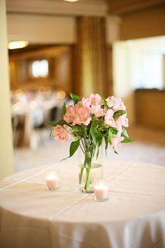 style me pretty - real wedding - usa - washington - seattle wedding - the arctic club hotel - reception decor - table decor - centerpiece - alstroemerias