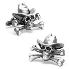 Brushed Metal Cuff Links-University of Pennsylvania-Silver