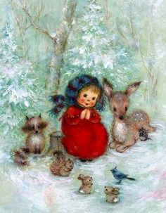 Hallmark greeting cards by Mary Hamilton. I just love her illustrations. They are so precious. Vintage Christmas Images, Retro Christmas, Vintage Holiday, Christmas Pictures, Christmas Art, Christmas Greetings, Vintage Valentines, Hallmark Greeting Cards, Vintage Greeting Cards