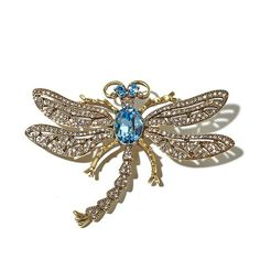 "Heidi Daus ""Trembling Brilliance"" Crystal Dragonfly Pin"
