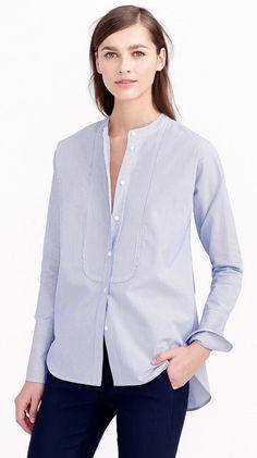 Collarless Tuxedo Shirt