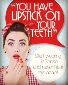 Lipstick on your teeth? Never with #LipSense! Never be embarrassed again Guaranteed                                                                                                                                                                                 More