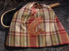 Tea Towel Trout Rising  Fly Fishing Inspired by TwoGirlsLaughing, $22.00