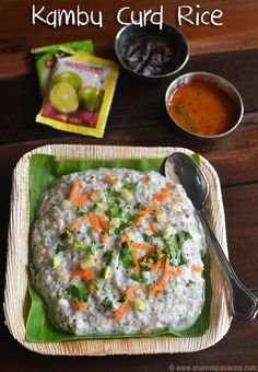 Kambu Thayir Sadam Recipe - Pearl Millet / Bajra Curd Rice