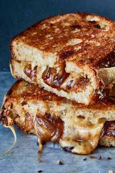 NYT Cooking Grilled cheese is a near-perfect food on its own but adding bacon kimchi or in this NYT Cooking Grilled cheese is a near-perfect food on its own but adding bacon kimchi or in this 7 nbsp hellip Grilled Cheese Grilled Cheese Recipes, Sandwich Recipes, Grilled Cheeses, French Onion Soup Grilled Cheese, Perfect Grilled Cheese, Tortillas, Cake Simple, Toast Sandwich, Cheese Toast