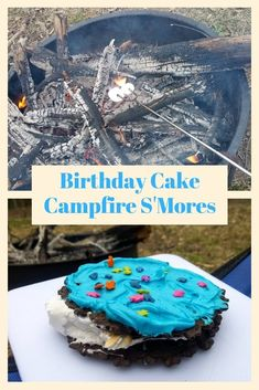 Birthday Cake S'Mores Dessert If you're looking for a delicious and fun s'mores dessert, look no further than this Campfire Birthday Cake S'mores! One bite and you'll be hooked! Camping Desserts, Desserts To Make, Camping Meals, Dessert Recipes, Camping Recipes, Frugal Meals, Family Camping, Camping Tips, Dessert Games