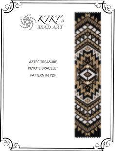 Peyote pattern for bracelet - Aztec treasure peyote bracelet pattern in PDF…
