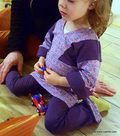 Kimono Kleid nach Amy Butler und Schlagleggins nach Lesulu und Schnabelina Monkey Pants